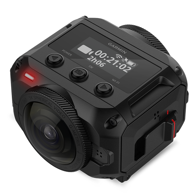 The Garmin Virb 360, another example of a rugged action camera. Image: Garmin.
