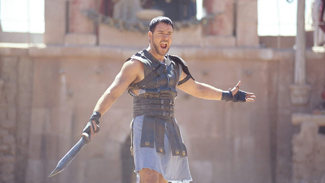 Russell Crowe in Gladiator (2000). Image: © 2000 - Dreamworks LLC & Universal Pictures - All Rights Reserved