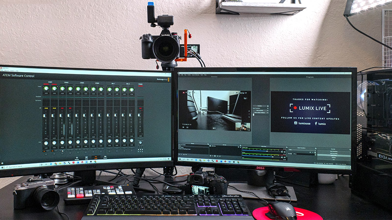Panasonic LUMIX webcam.