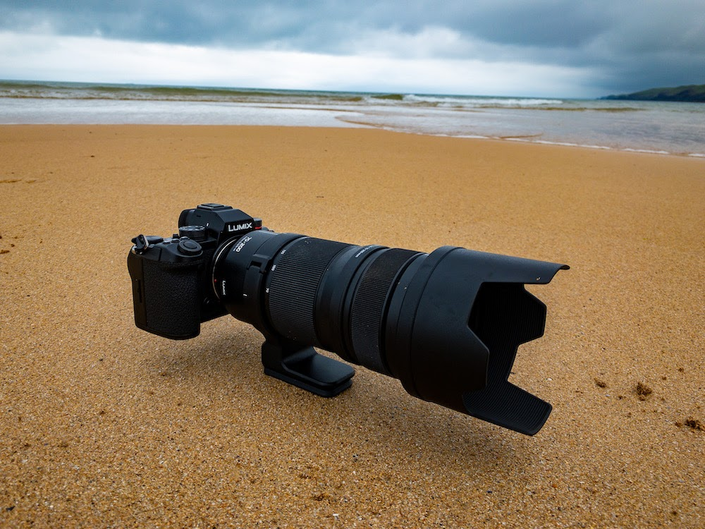 The Panasonic S5 with the S Pro 70-200m f/2.8 lens.