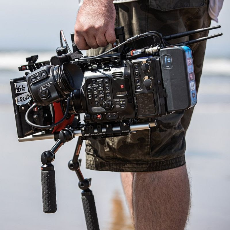 The Canon EOS C500 Mark II in handheld configuration. Image: Canon.