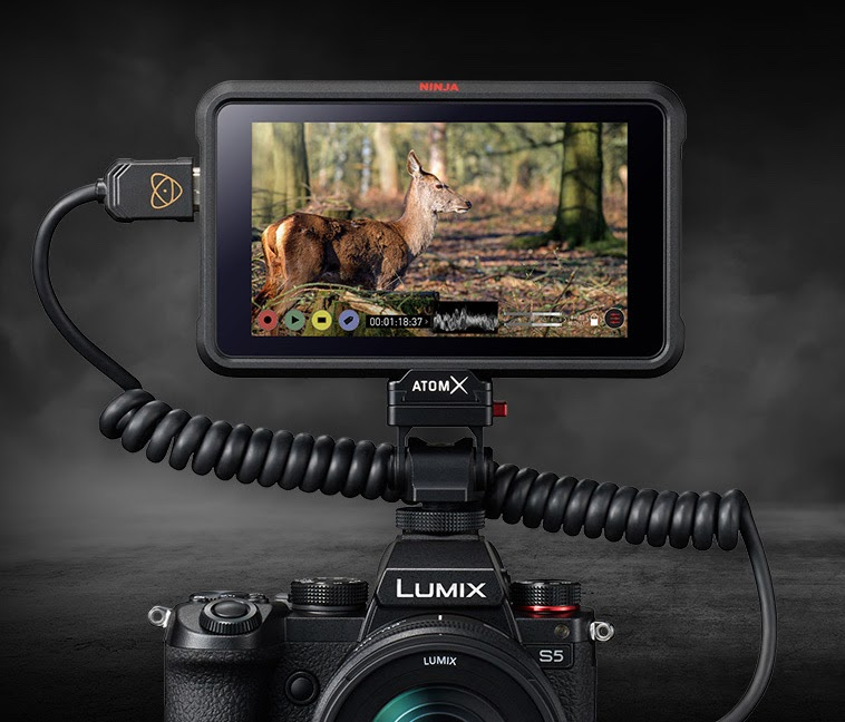 The Panasonic S5 with Atomos Ninja V.