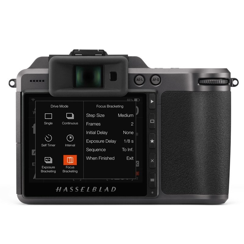 The new focus bracketing feature on the Hasselblad X1D II 50C. Image: Hasselblad.