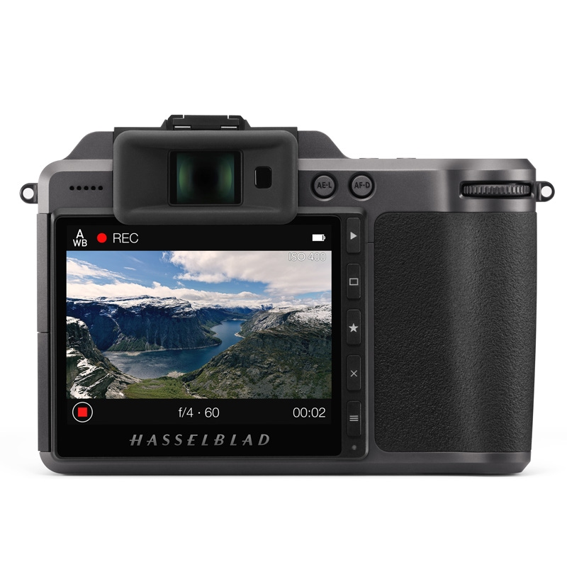 The Hasselblad X1D II 50C video function. Image: Hasselblad.