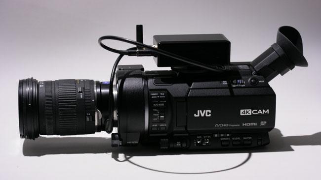 Here, the MTF Effect controller operates a Sigma lens - a non-Canon mount running a non-Canon lens