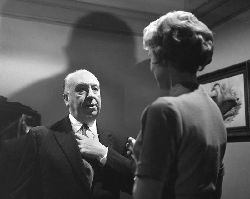 Director Alfred Hitchcock discusses a scene with actress Janet Leigh. Image: IMDB.
