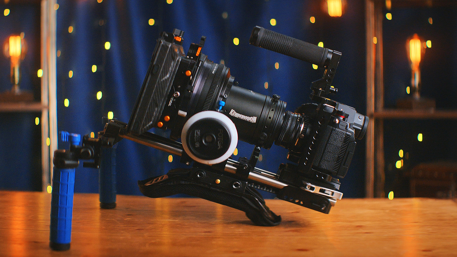 Yes, it is possible to make your own anamorphic lens for a fraction of the price of a 'real' one.