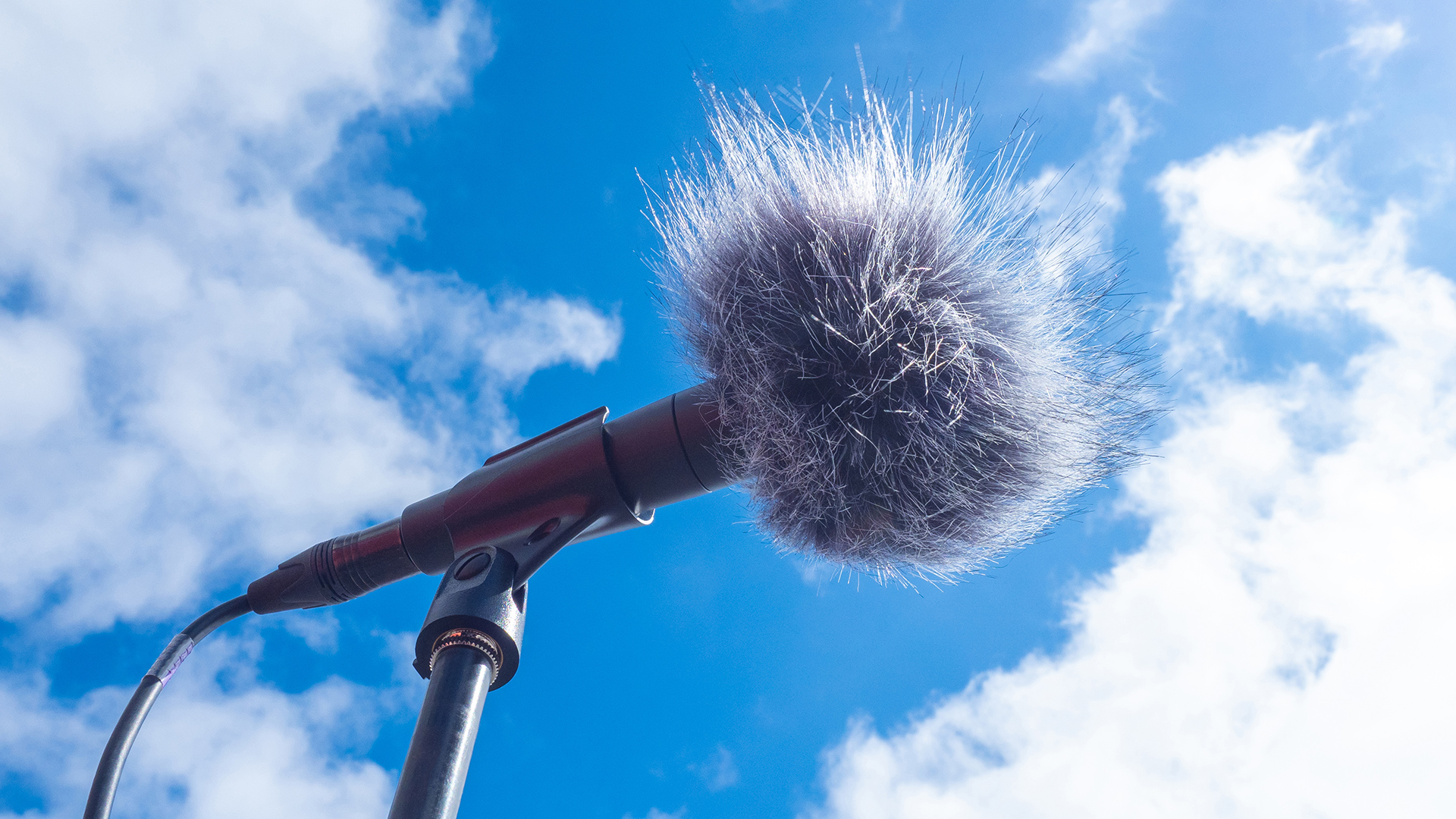 How to reduce wind noise in audio.