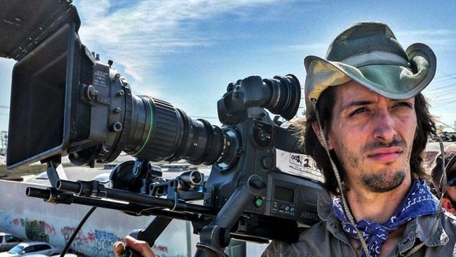 DP Adrien Sierkowski operating with the Canon 7-63mm zoom on an ARRI SR3