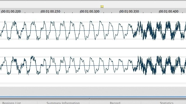 Waveform from Sound Forge Mac.