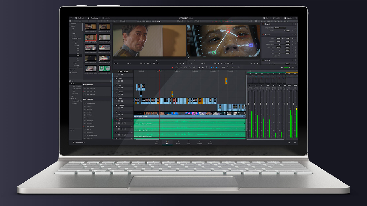 DaVinci Resolve. It's free, and it's brilliant. So why complain?