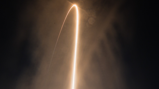 Antares rocked launch long exposure