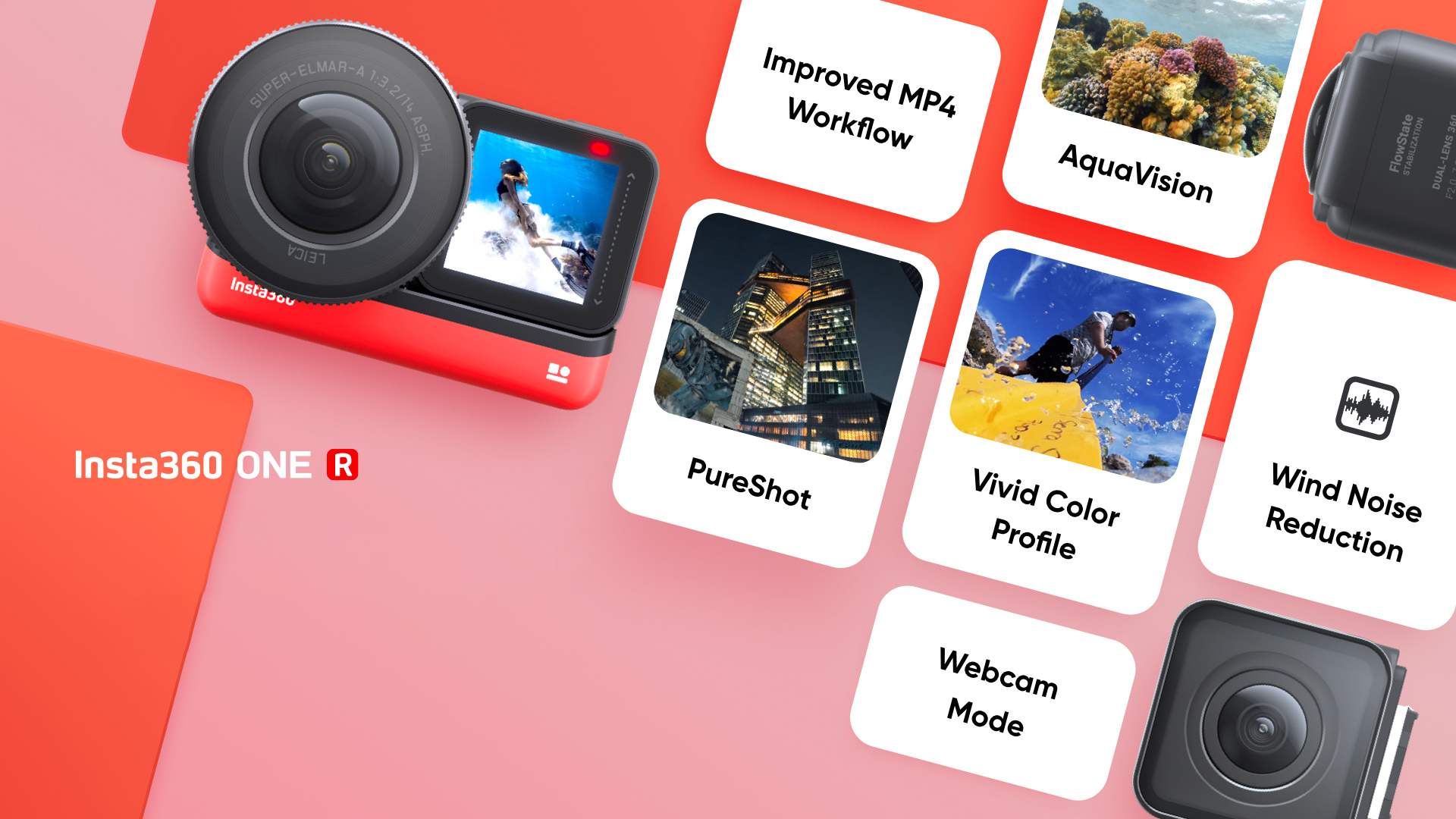 Insta360 ONE R firmware update. Image: Insta360.