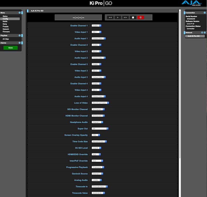 Ki Pro GO enabling channels.