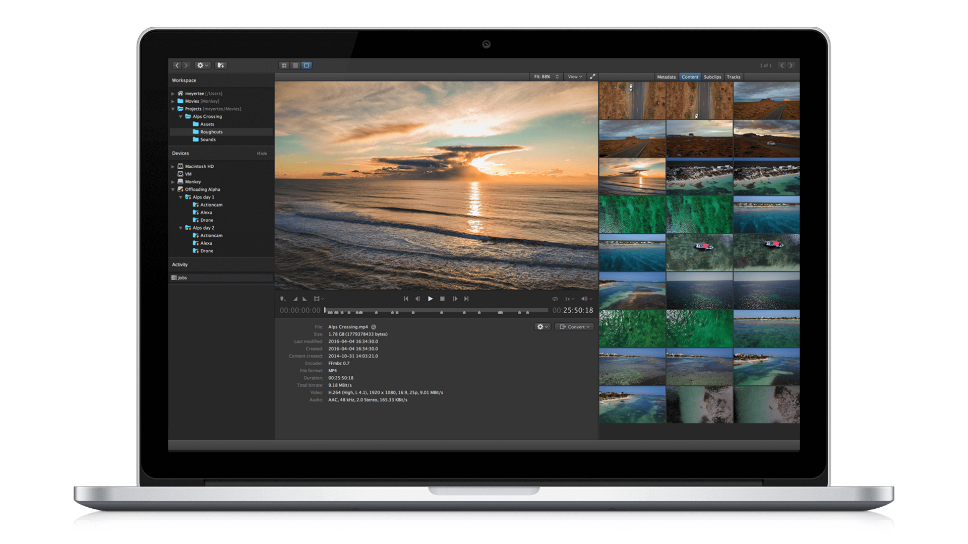 Kyno by Lesspain software has been updated to version 1.8 with DaVinci Resolve compatibility.Image: Lesspain Software.