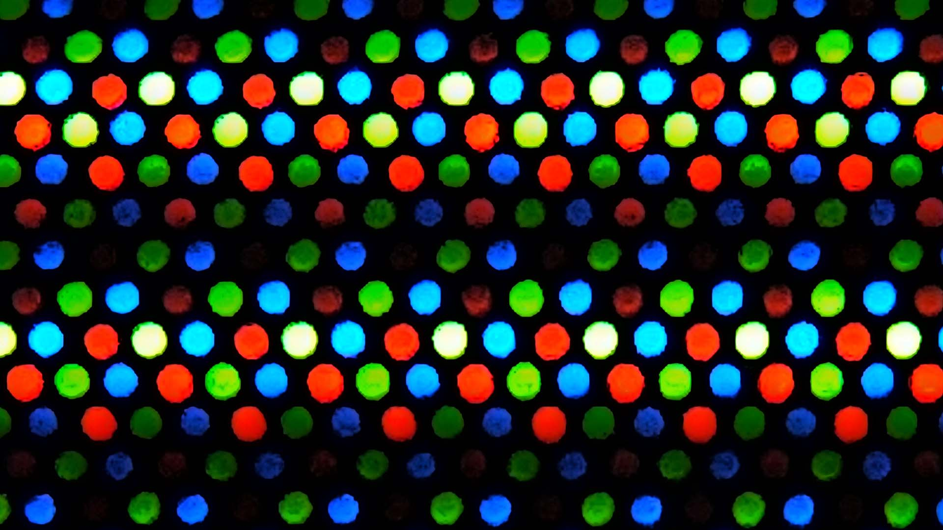 A macro view of an LED display. Image: