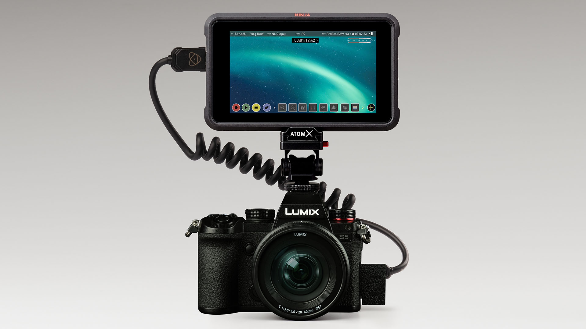 Panasonic LUMIX S5 gets ProRes RAW. Image: Atomos.