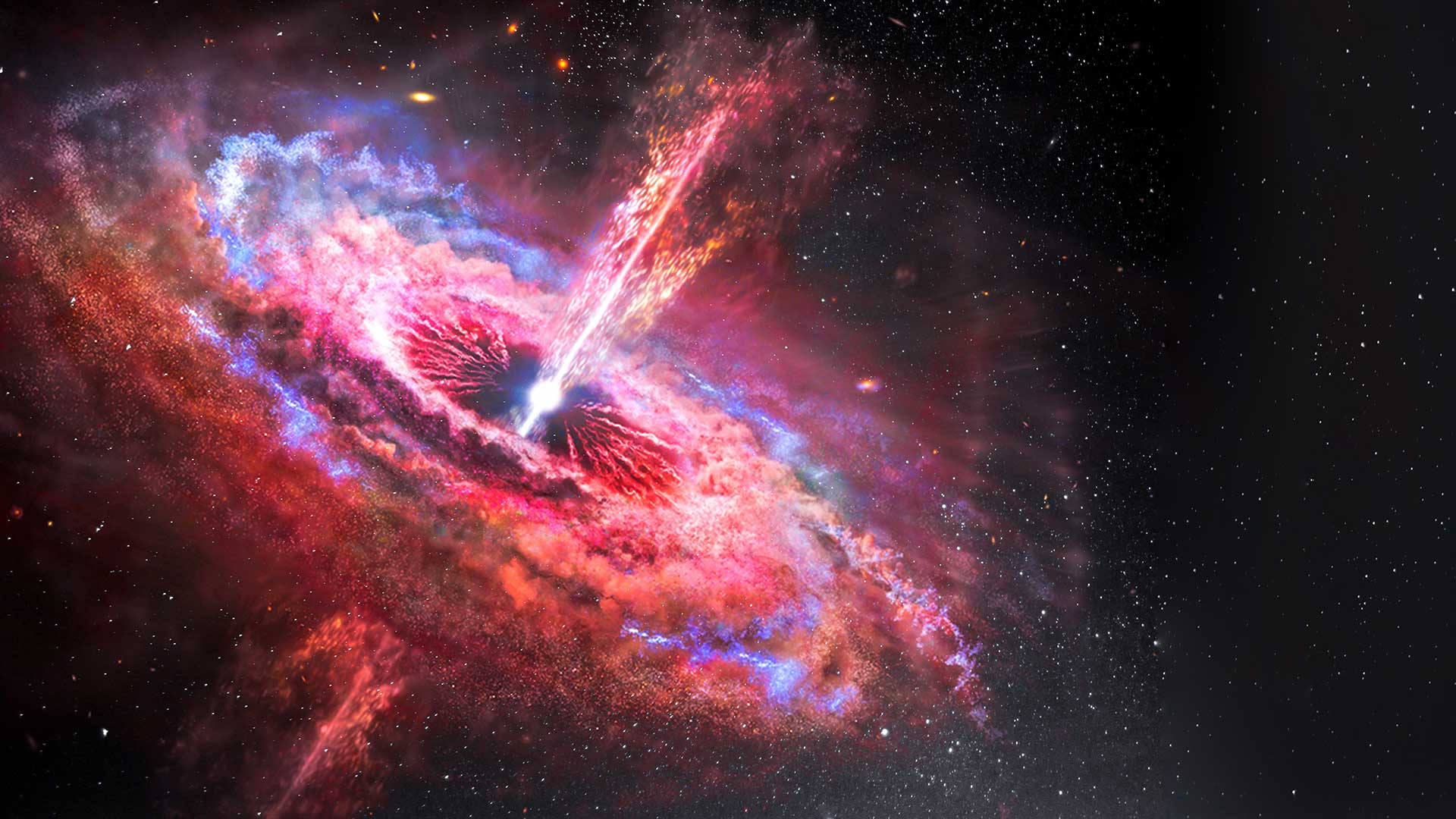 Scientists have observed light on the far side of black hole for the first time. Image: