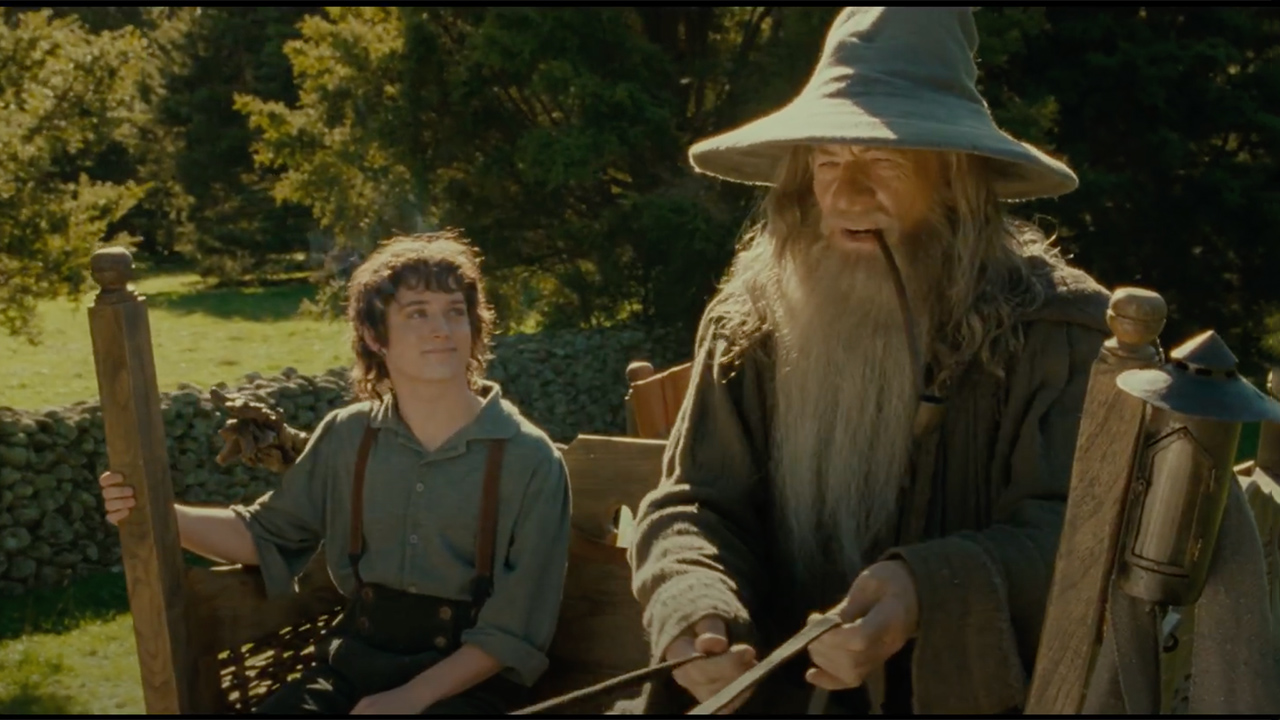 Lord of the Rings made extensive use of the forced perspective technique, both practically and with CGI assistance.