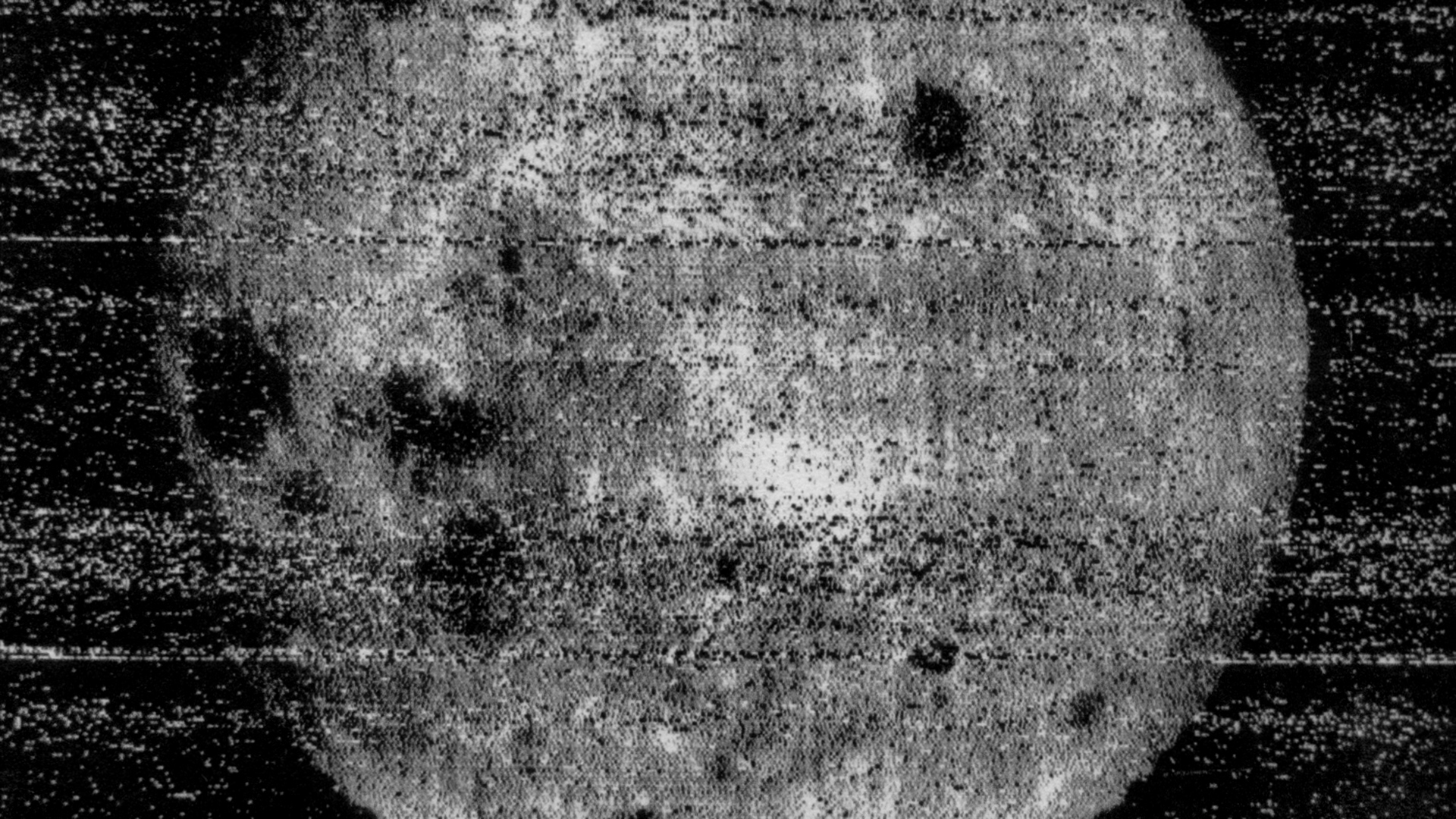 This image was the first time humans had seen what was on the far side of the moon. Image: Russian Space Agency.