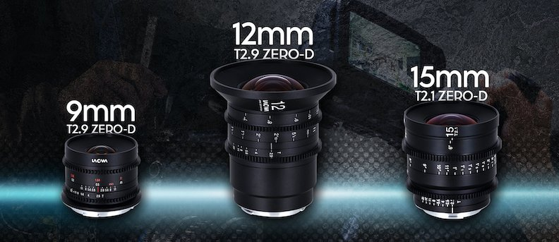The Laowa 9mm, 12mm, and 15mm lenses.