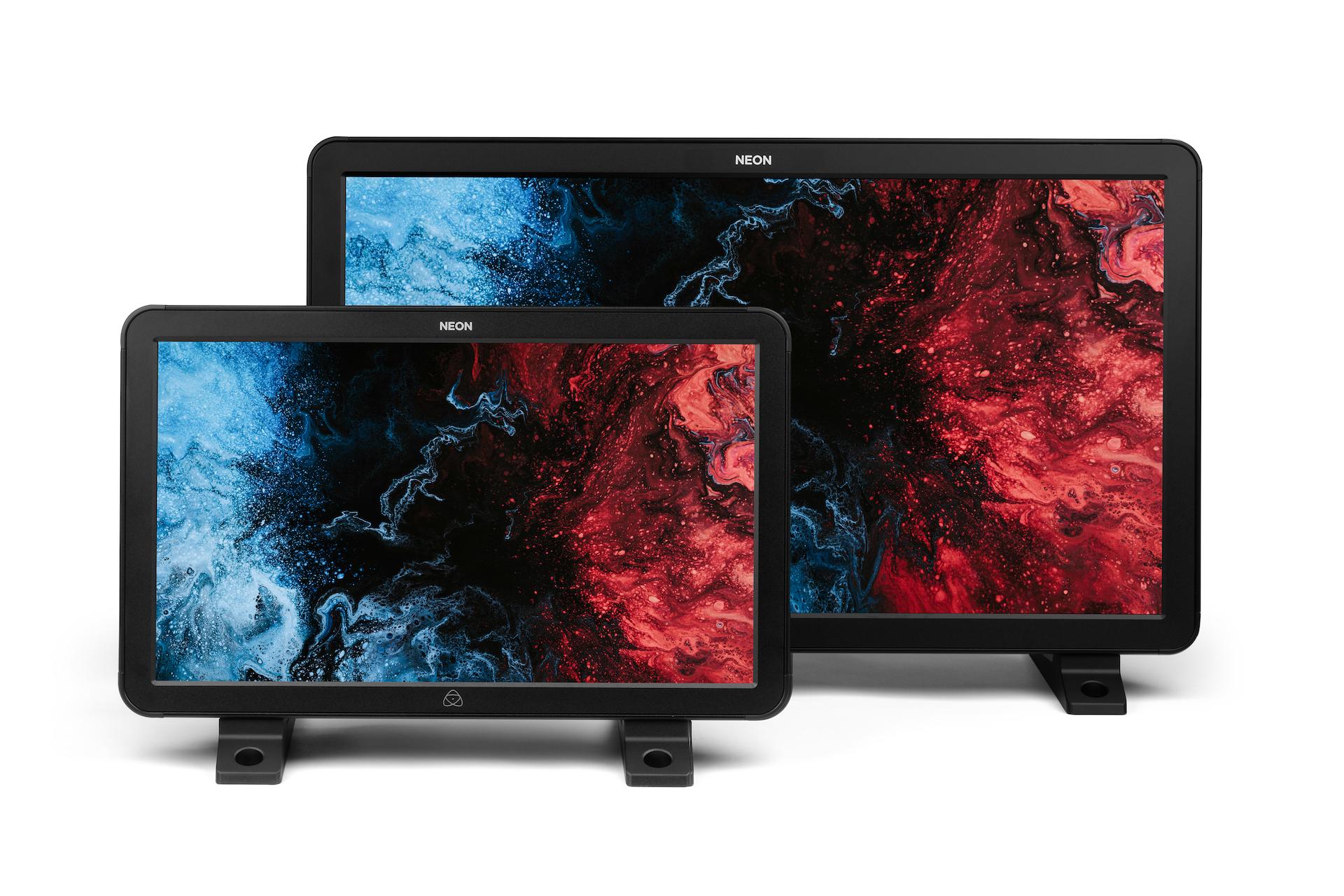 "Atomos NEON 17"" and 24"" monitors side-by-side. Image: Atomos."