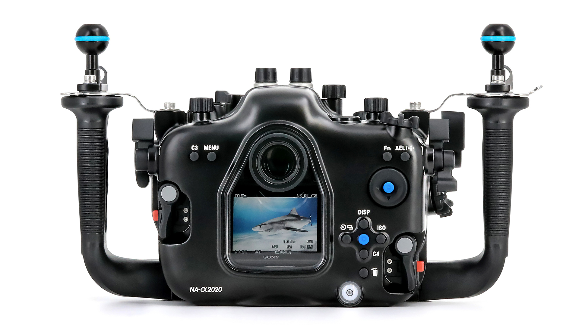 The Nauticam NA-α2020 is the latest housing from the company to support Sony's flagship full-frame mirrorless cameras. Image: Nauticam.