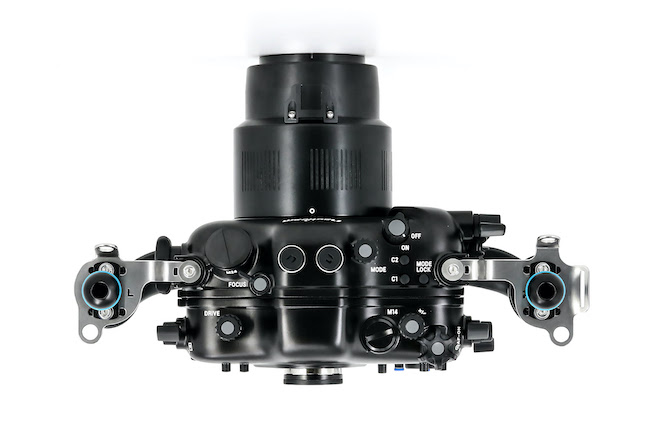 Top view of the Nauticam NA-α2020 housing.