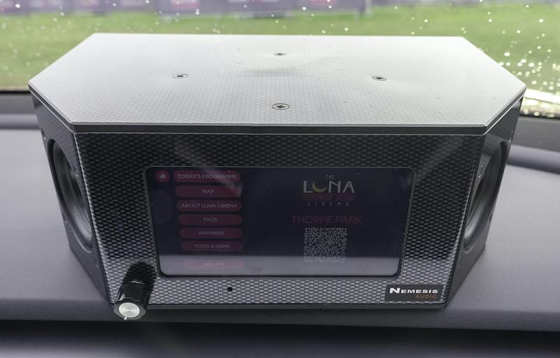 Drive-in cinema speaker.