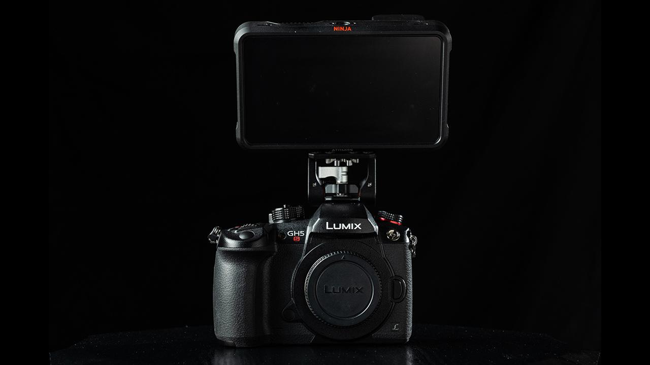 The LUMIX GH5S with an Atomos Ninja V. Image: Panasonic.