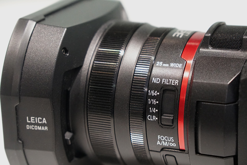 Lens controls on the Panasonic AG-CX10.