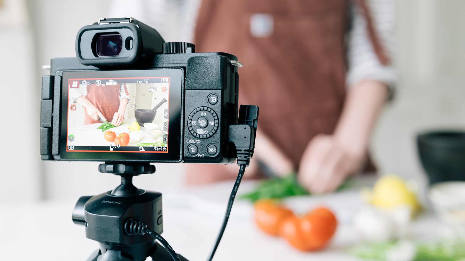 Panasonic LUMIX GH100 vlogging camera.