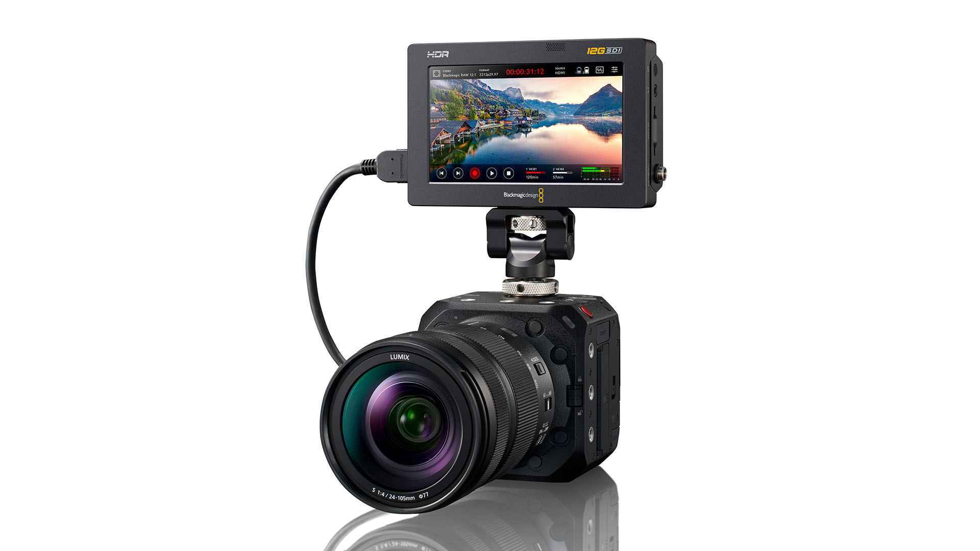 The new full-frame Panasonic LUMIX BS1H box-camera. Image: Panasonic.