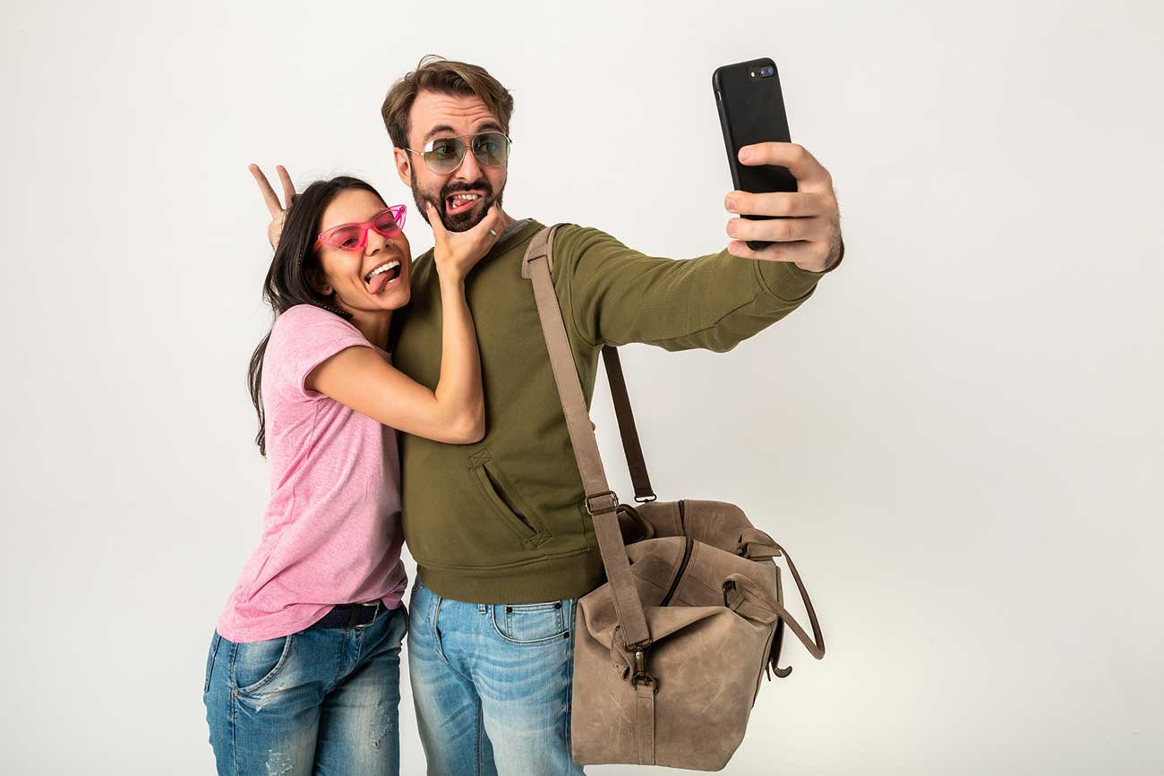 People filming on phone.