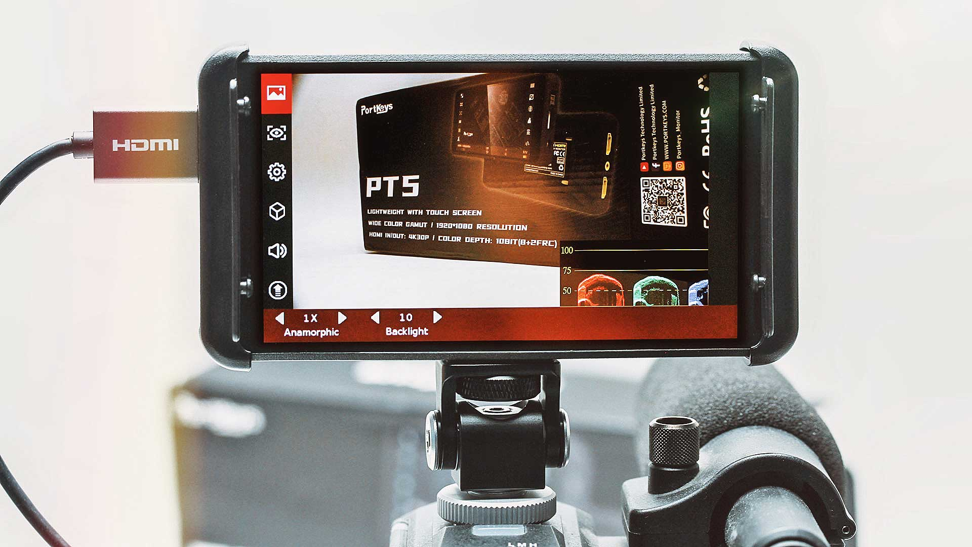 The Portkeys PT5 monitor. Image: Phil Rhodes.