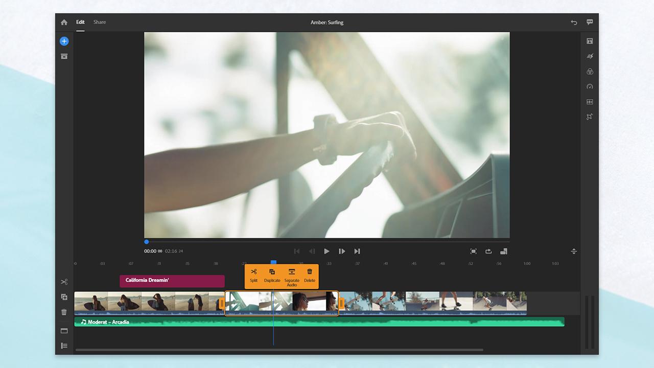 Adobe Premiere Rush. Image: Adobe.