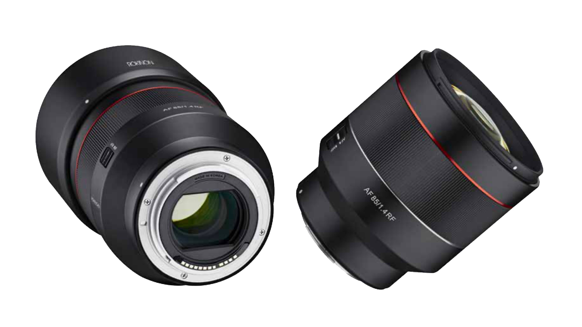 Rokinon's new AF 85mm f/1.4 lens for RF Mount. Image: Rokinon