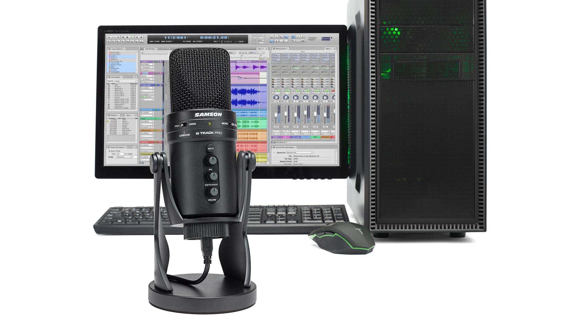 Samson G-Track Pro USB microphone. Image: Samson