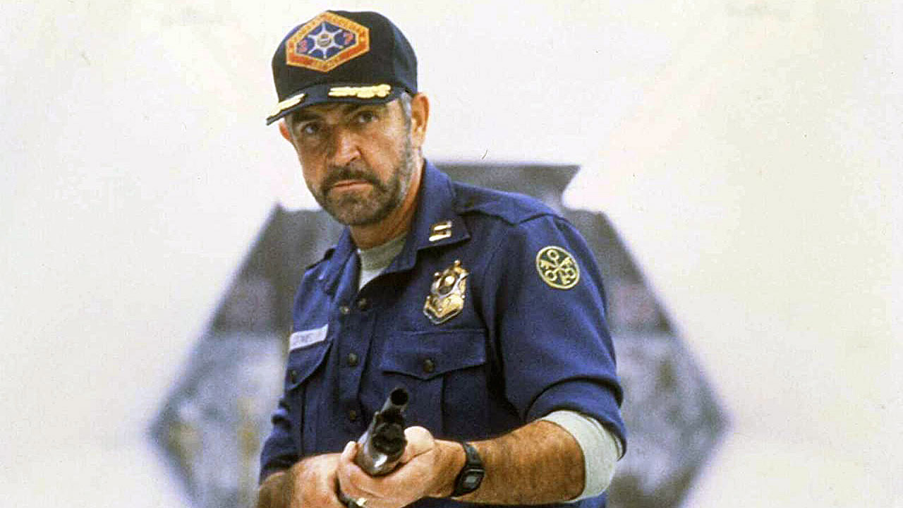 Sean Connery in Outland.