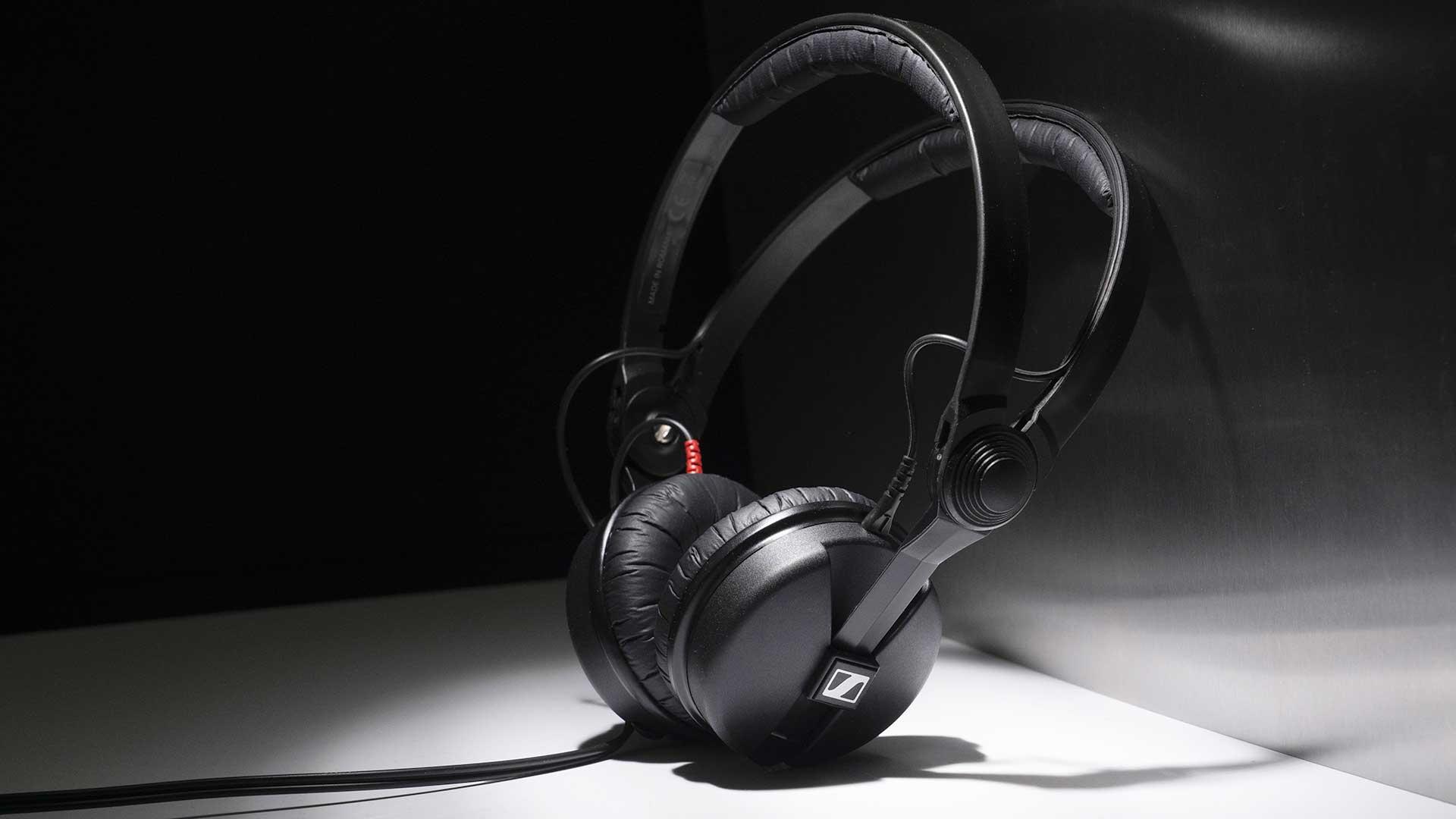The iconic Sennheiser HD25s headphones.