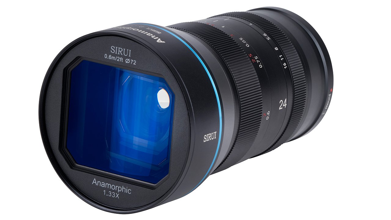 The new 24mm Sirui anamorphic lens. Image: Sirui.