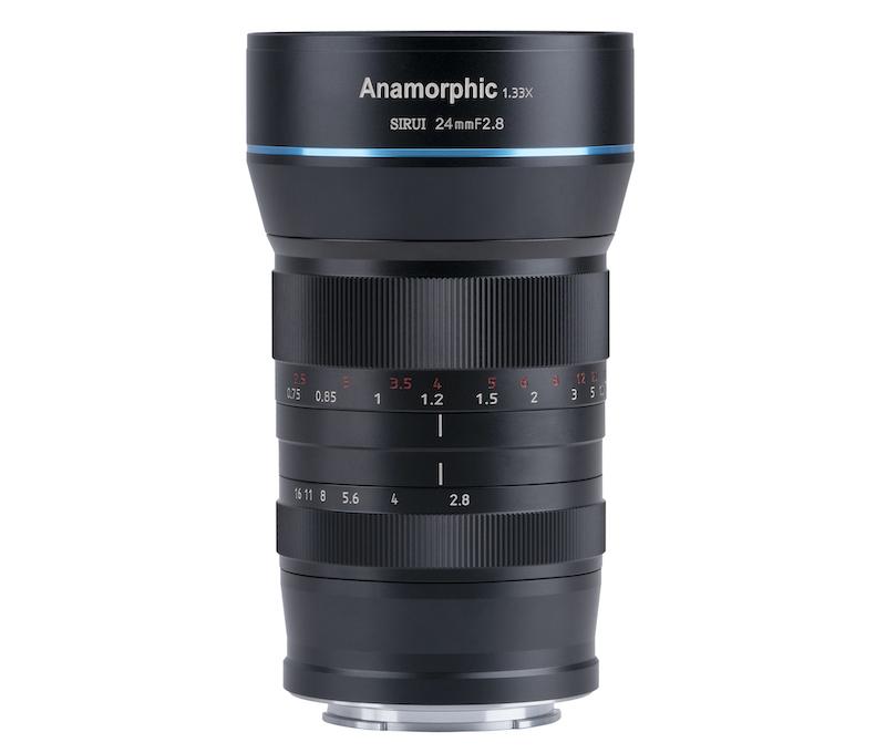 Sirui 24mm anamorphic lens side