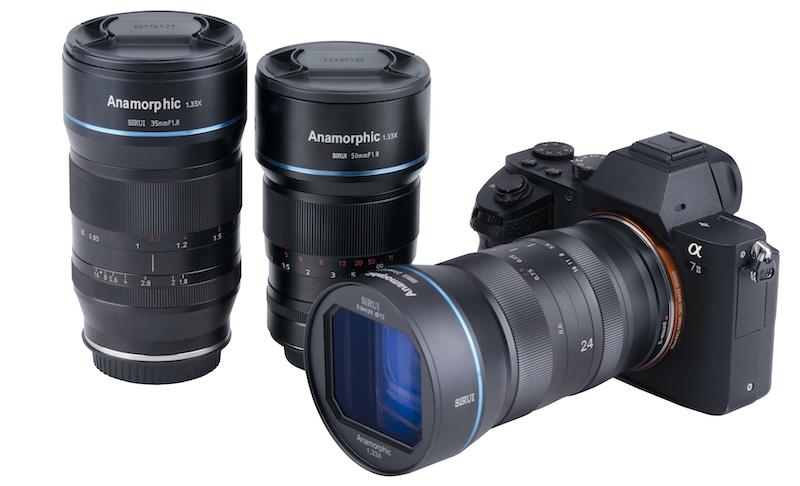 The Sirui anamorphic lens range. Image: Sirui.