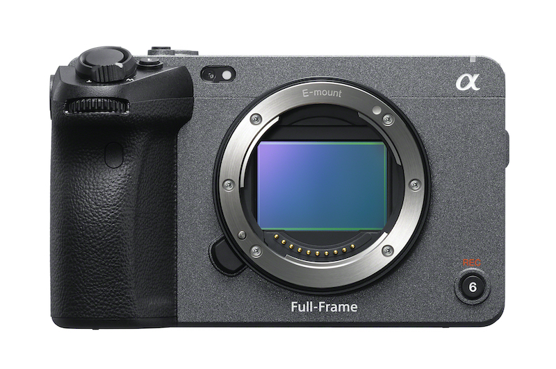 Sony FX3 front view. Image: Sony.