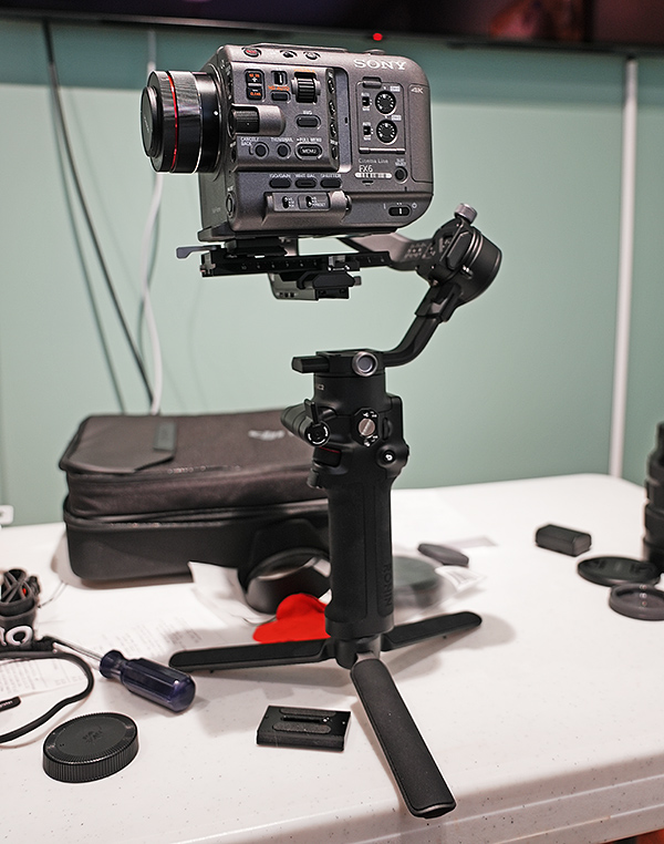The Sony FX6 is ideal for gimbals. Image: Ned Soltz.