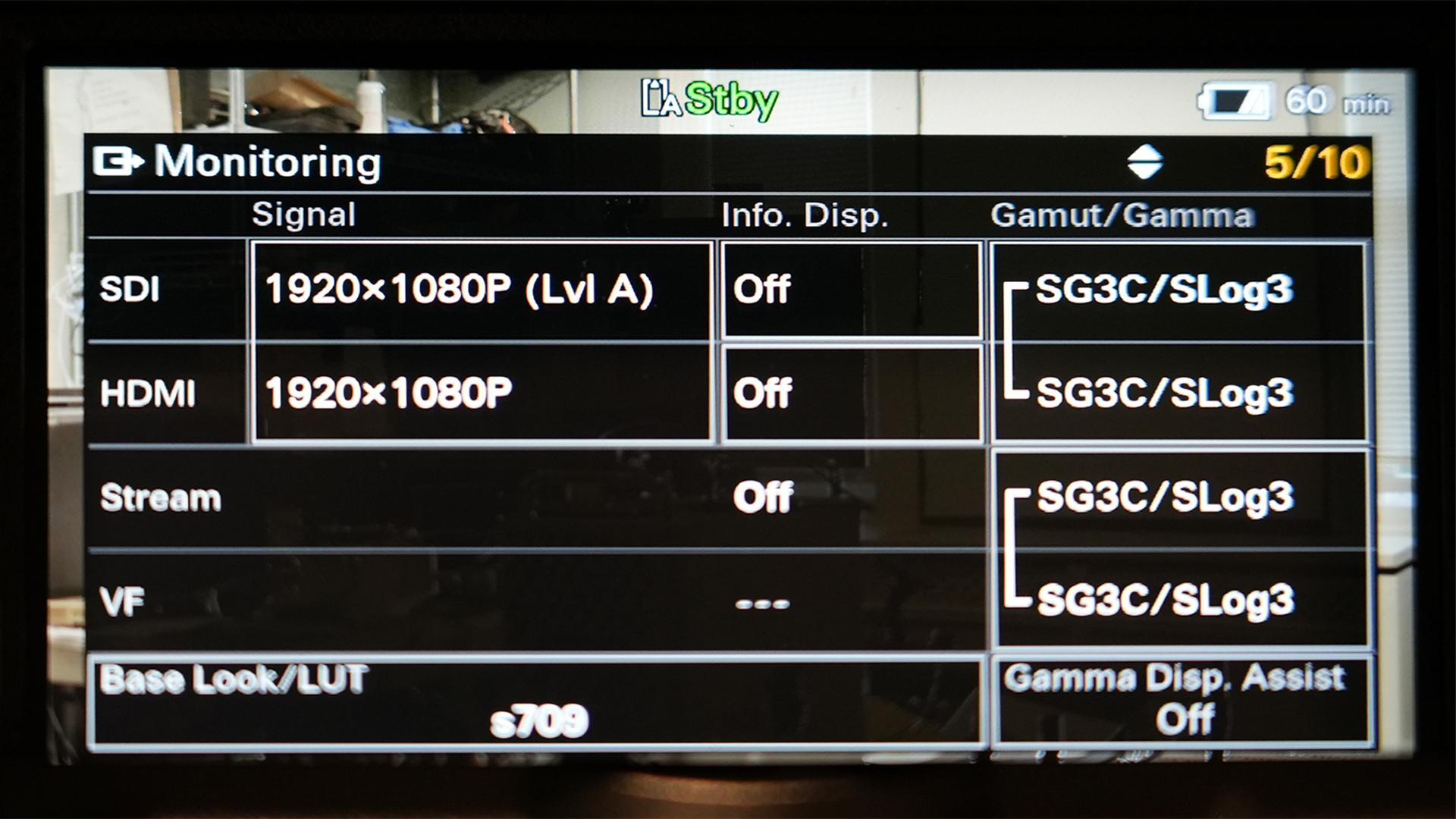 Sony FX6 menu system. Image: Ned Soltz.