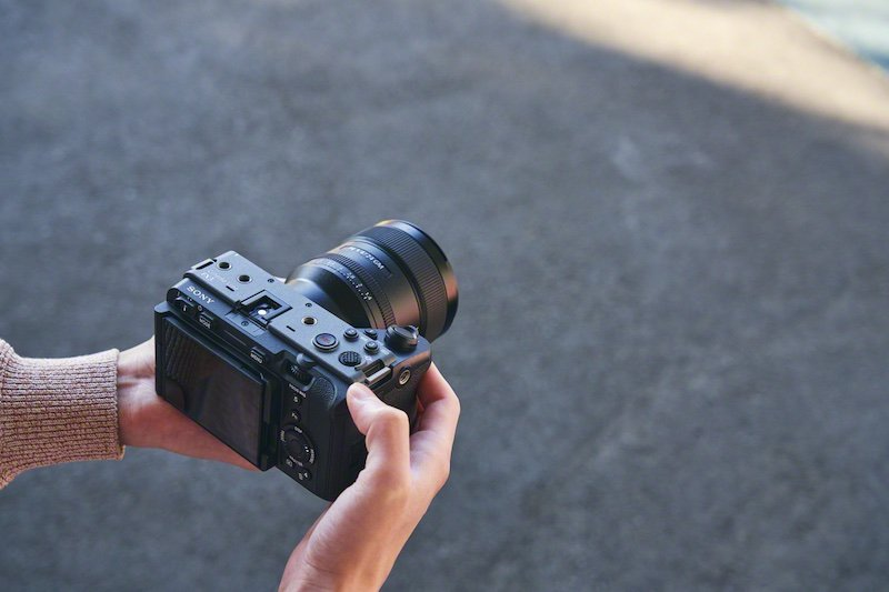 The Sony FX3 being used handheld. Image: Sony.