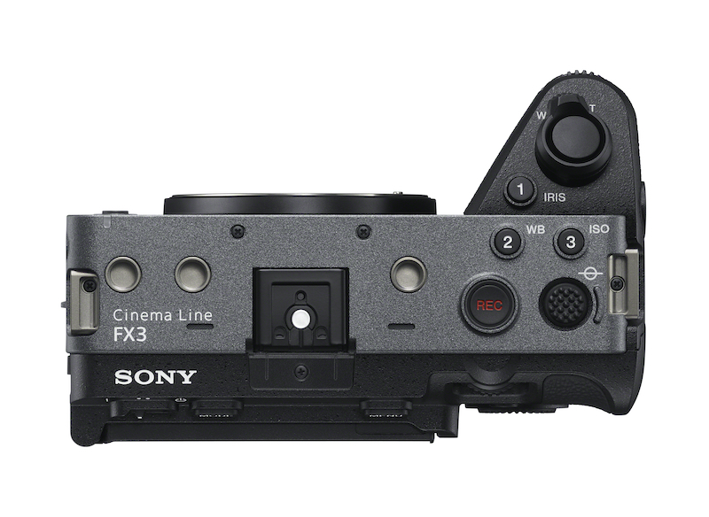 Top view of the Sony FX3. Image: Sony.
