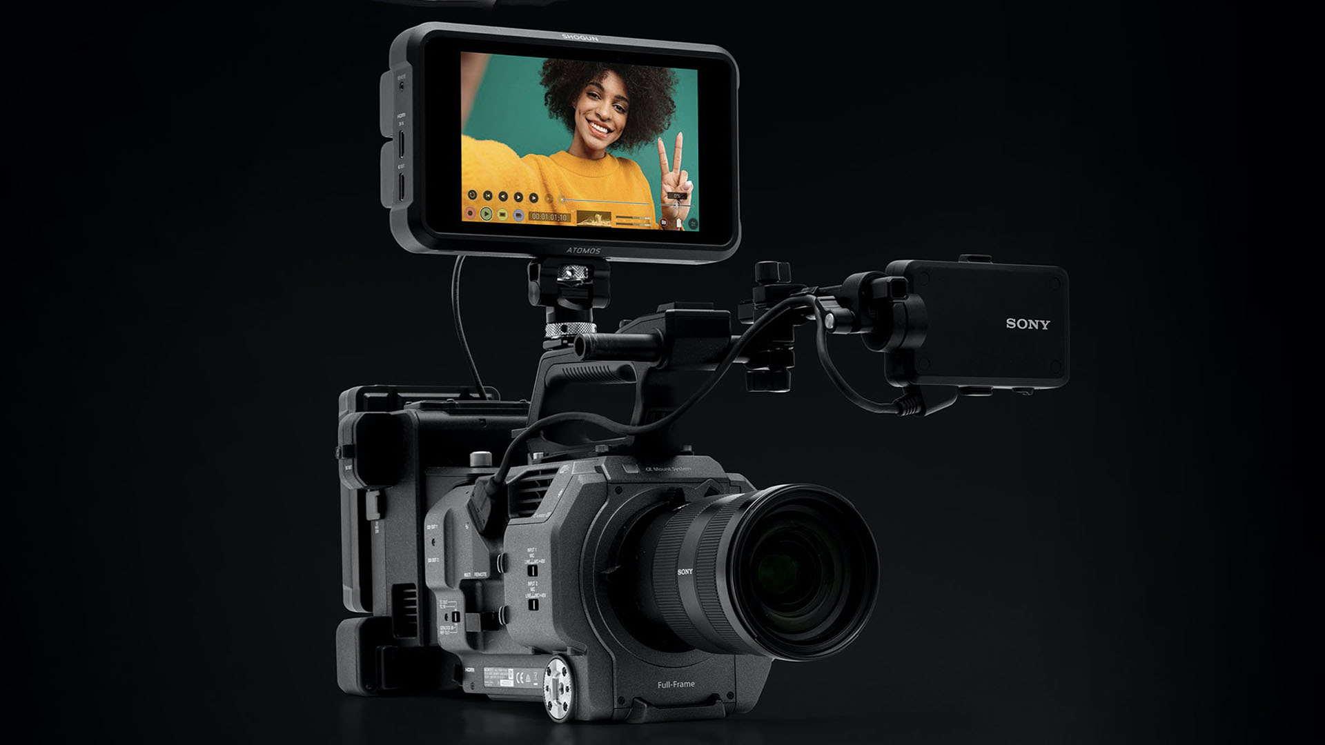 The Sony FX9 can now record HFR raw to the Atomos Ninja V. Image: Atomos.