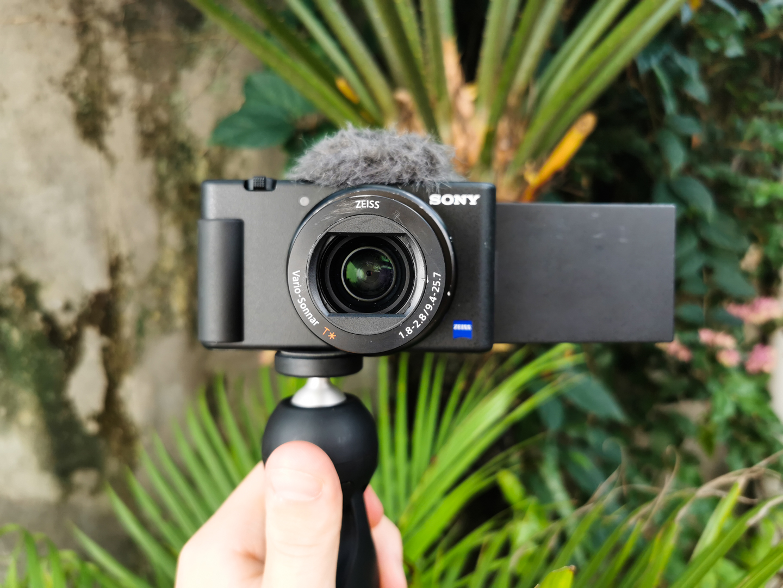 Sony ZV-1 in vlogging configuration